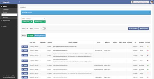 Insightech UI Screenshot